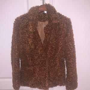 H&M Brown Teddy Coat
